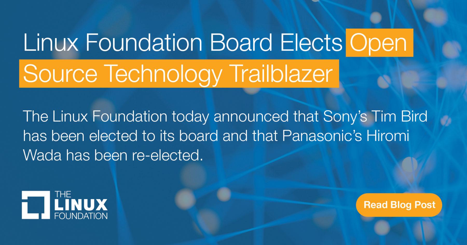 Board Elects Open Source Technology Trailblazer